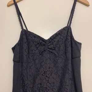 American Eagle Gray Lace Fitted Dress size 10